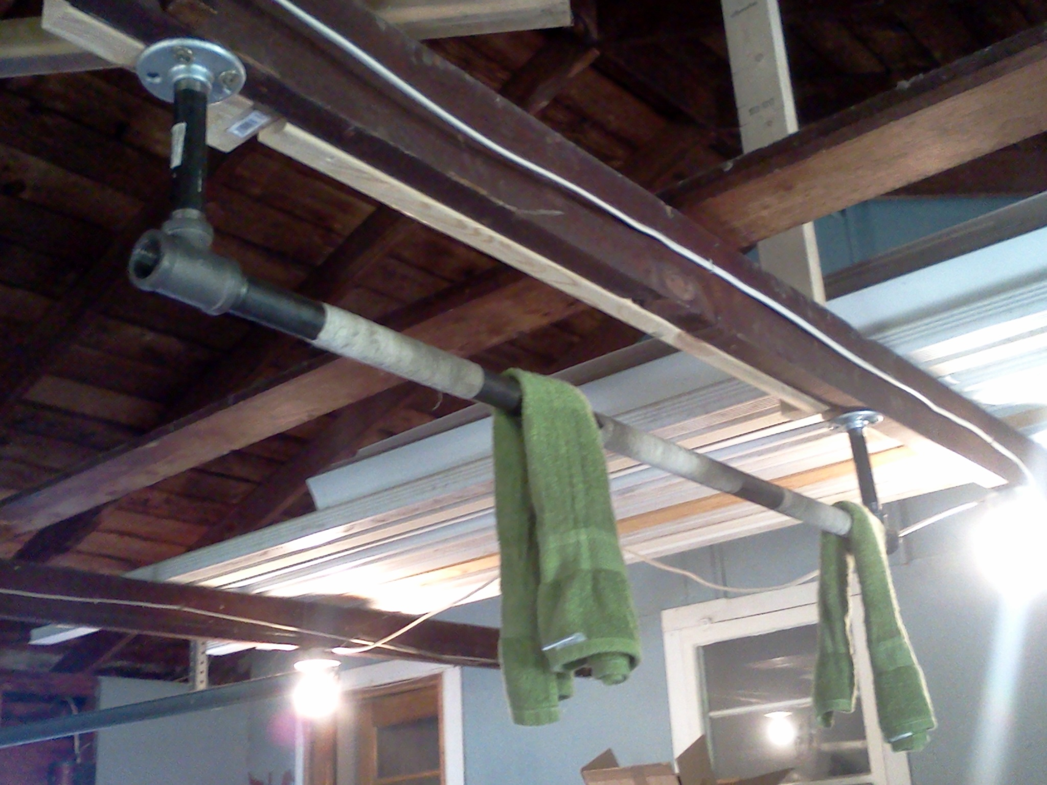 ceiling bar home design up pull ideas mounted bars garage