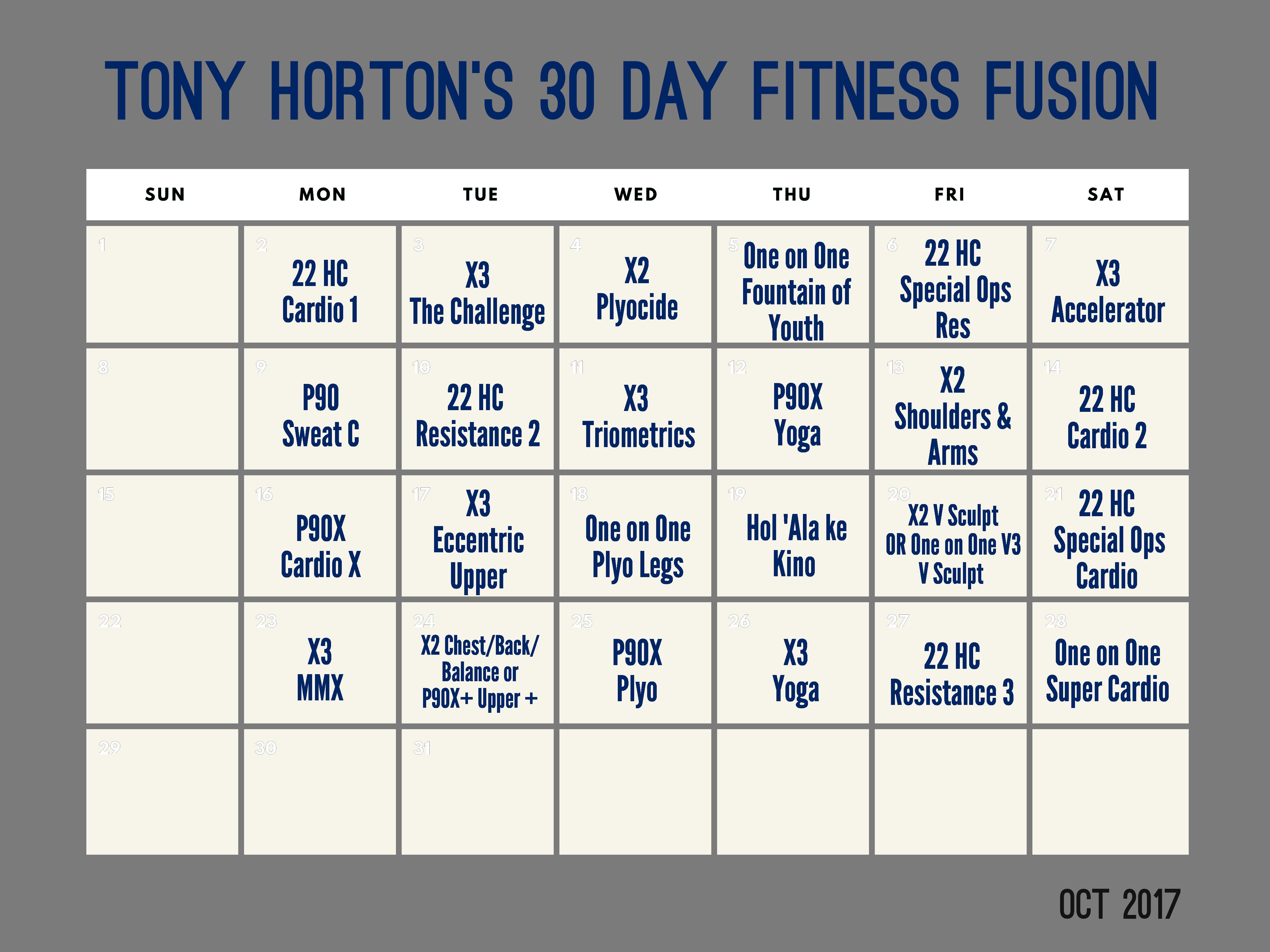 Tony Horton's 30 Day Fitness Fusion - teamRIPPED
